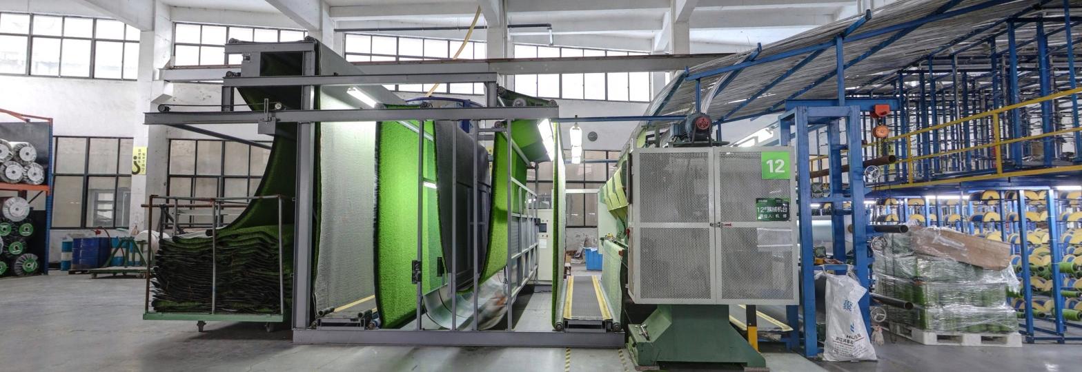 Kunstgras in de fabriek