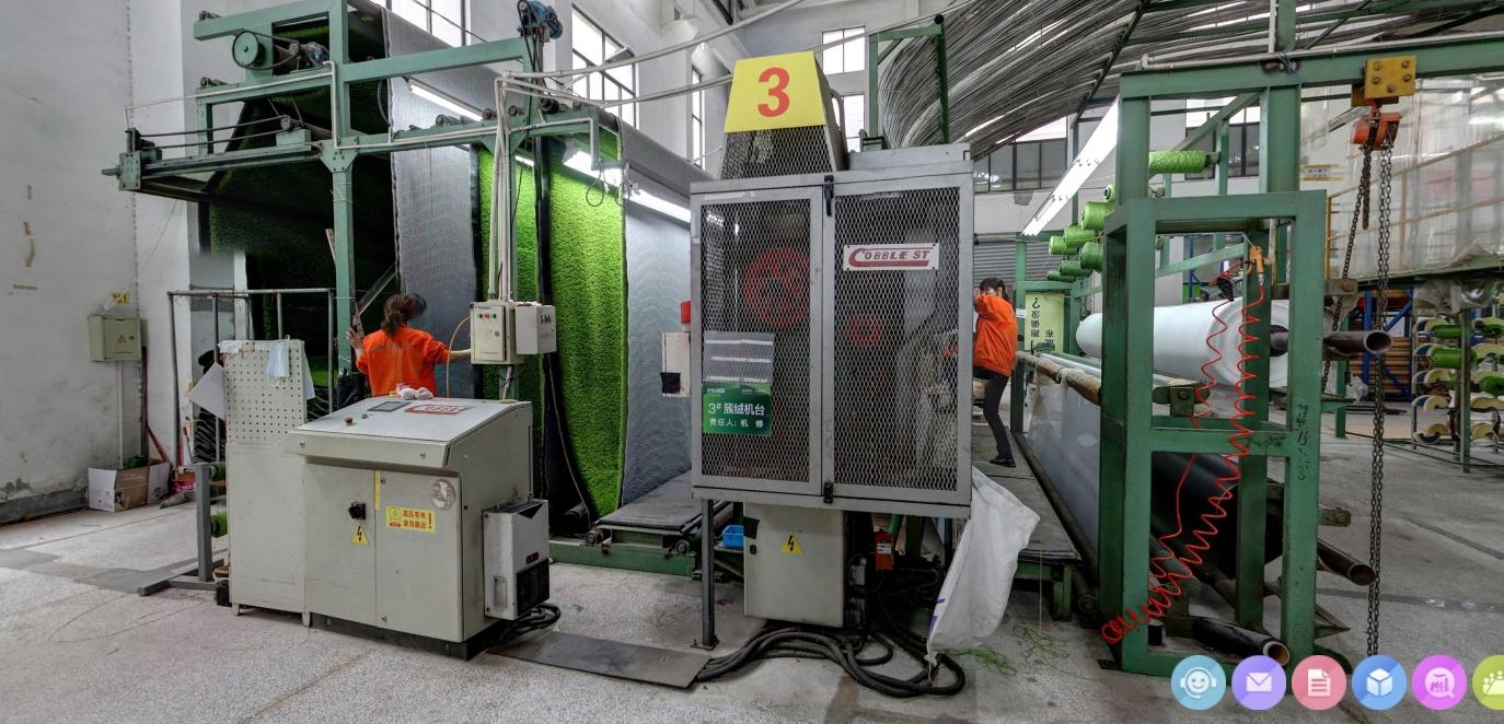 Kunstgras op de rol rechtstreeks vanaf de fabriek