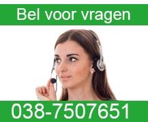 Heeft u vragen over kunstgras Bel 038-7507651