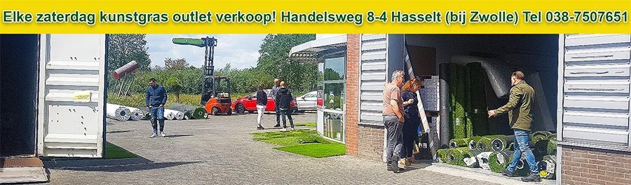 kunstgras outlet Hasselt elke zaterdag verkoop opruiming kunstgras